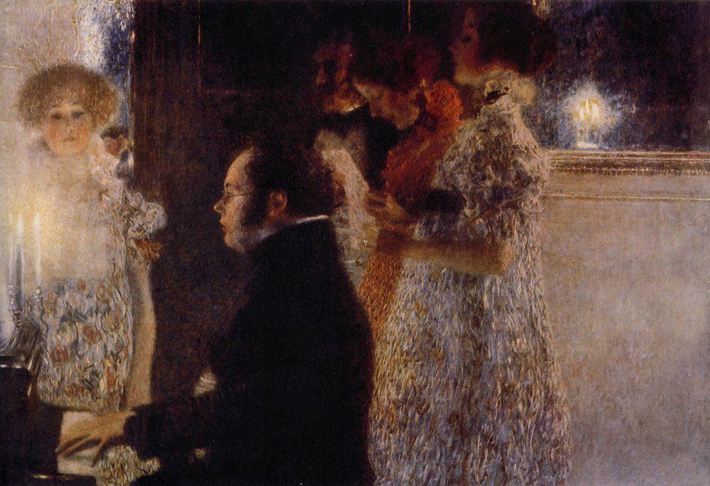 Schubert at the Piano (1899), Gustav Klimt